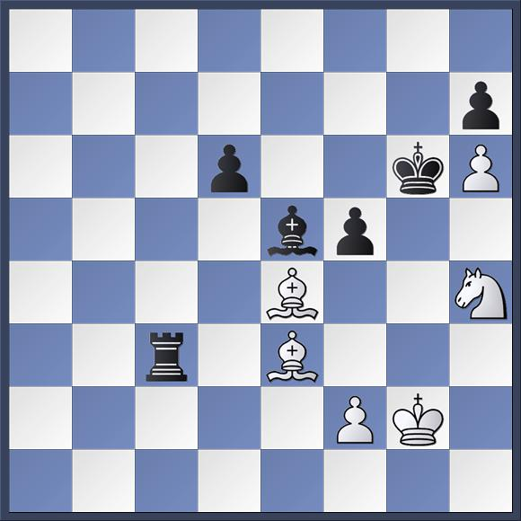 This position appeared in Parsons vs. Shapland. Matthew has just played 40.Nh4+ and Dave now played Kh5. However, if he'd played Kf6 instead he could have saved himself. Can you work out how? The solution is in the game viewer at the end of this post