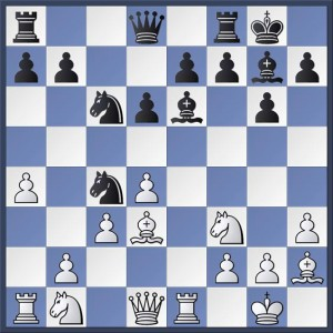 White to play in Parsons vs. Mulleady. How did Matthew secure an advantage? The answer is given in the game viewer at the end of this post. Select the appropriate game from the drop-down menu