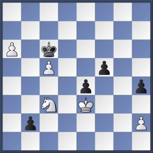Syrett vs. Webb. It's White's 58th move. How could Martin have stopped the advancing Black pawns to claim a famous victory? Answer in the game viewer below