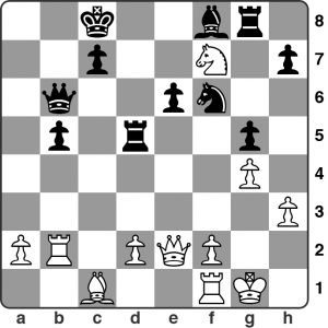 March: Shapland vs Leatherbarrow - Calderdale Individual Championship R5. It's White to move. The position is a mess and there are weaknesses everywhere on both sides. Black has just played 20...g5. What's White's best approach here?