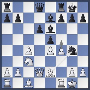 An interesting position from last night's match. In Joyce vs. Hutchinson, Black has just played 11...Ng4 and this led to an interesting passage of play The question is, who has the advantage here? Answer in the game viewer at the end of this post.
