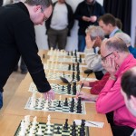 Let the games begin! Danny played the opening stages of all his games in orthodox fashion. Photo courtesy of Hebden Bridge Times