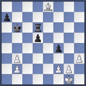 Syrett vs. Shapland. Martin Syrett has two pawns for the exchange having just traded queens on e8. How should Black now proceed and what should the result be with best play? Find out the answer in the game viewer at the end of this post.