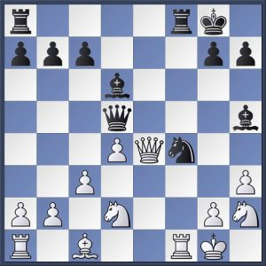 Gledhill vs Shapland. Black to move. Find the killer blow that White had overlooked. Answer in the game viewer at the end of this post.