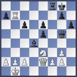 Haast vs. Kosteniuk. Black to play. Former Women's World Champion Alexandra Kosteniuk finished off her opponent her in elegant style. The firs move is fairly obvious but can you see the whole idea?