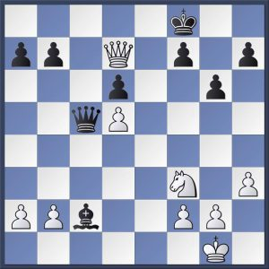 Patrick vs. Shapland. It's white to make his 23rd move. He has the advantage but there is only one way to proceed to preserve it. Can you find it? Answer in the game viewer at the end of this post.